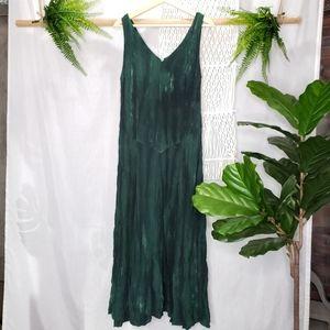 Love To Kiss Vintage Bohemian Maxi Green Dress